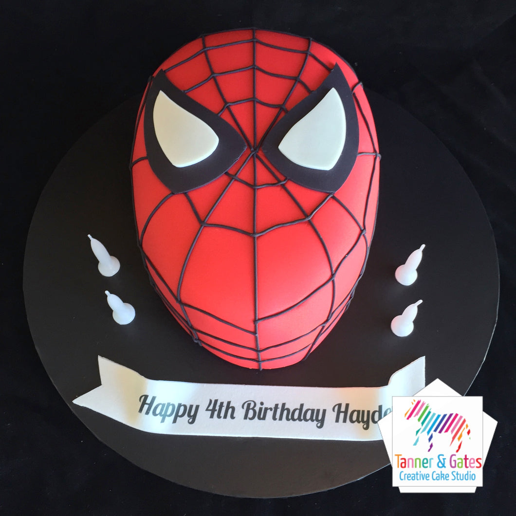 Spiderman Cake (3D Head)