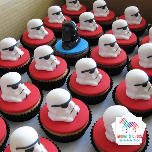 Star Wars Cupcakes - Darth & Stormtroopers (full helmet)