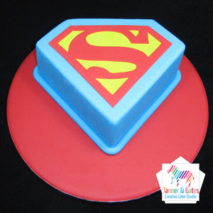 Superman Logo Birthday Cake