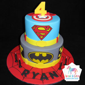 Superhero Cake - 2 tier