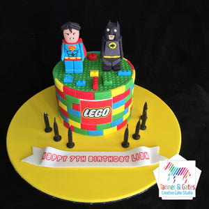 Lego Batman vs Superman Cake