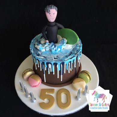 Surfer Drip Birthday Cake