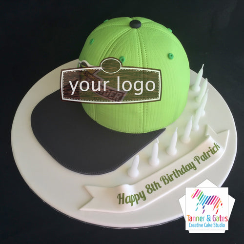 Baseball Cap Birthday Cake
