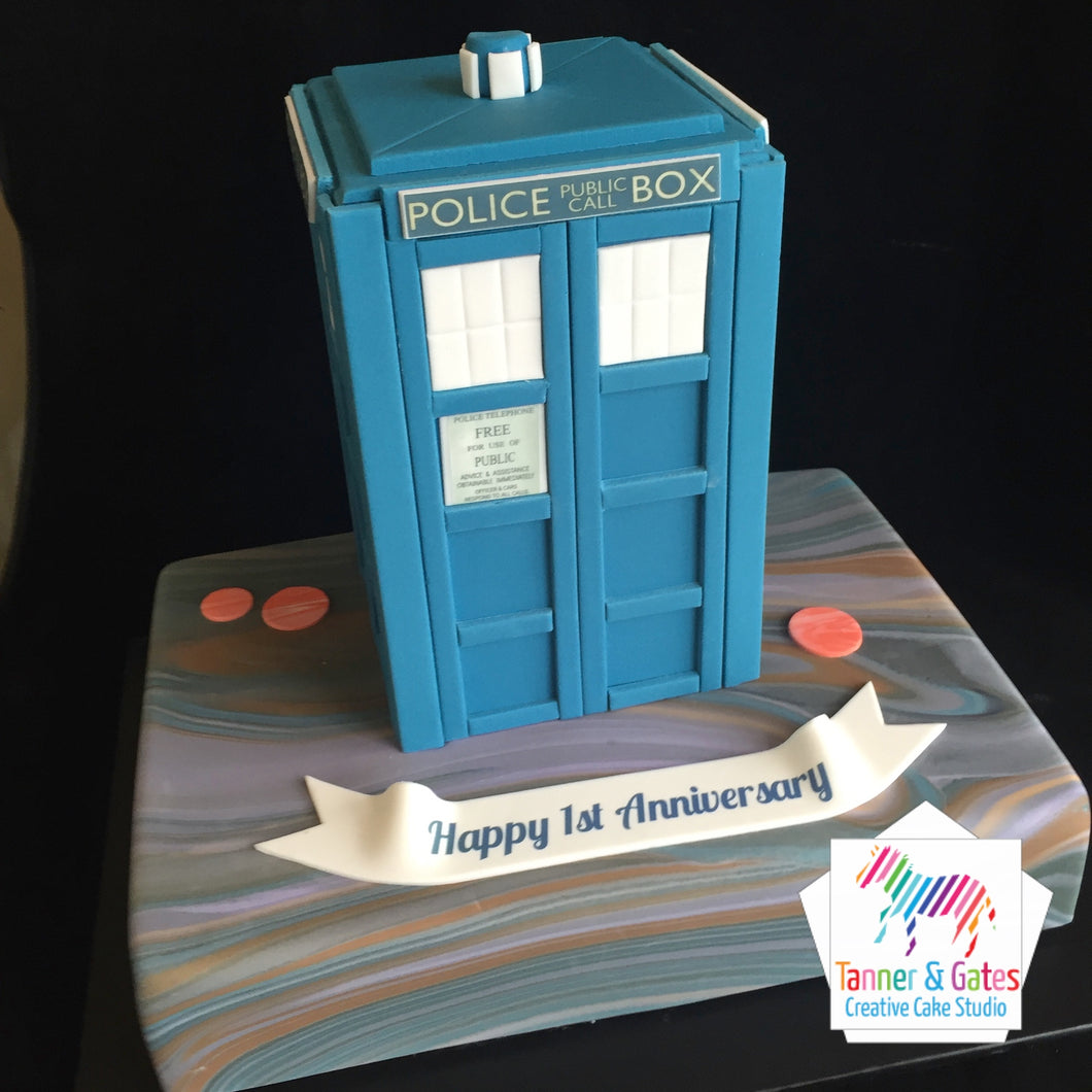 Dr Who Tardis Cake - Space Edition