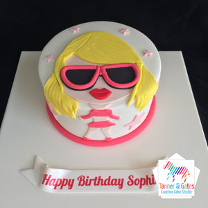 Pop Star Cartoon Cake