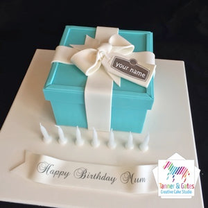 Pleasing Tiffany Co Box Birthday Cake Tanner Gates Funny Birthday Cards Online Fluifree Goldxyz