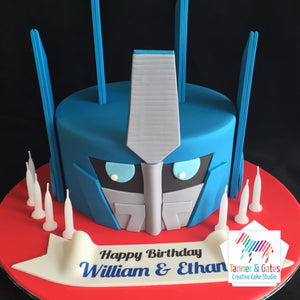 Excellent Optimus Prime Transformas Birthday Cake Tanner Gates Personalised Birthday Cards Paralily Jamesorg