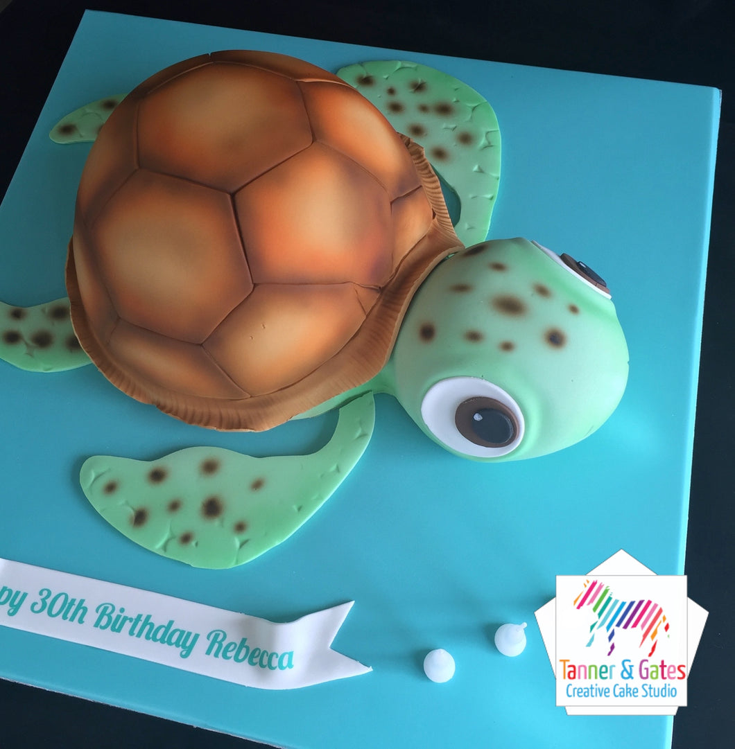3D Baby Turtle Cake