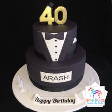 Tuxedo Birthday Cake (two tier)
