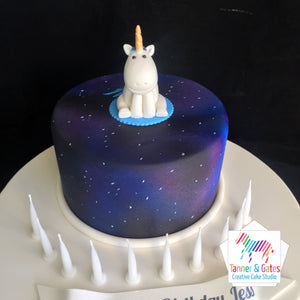 Unicorn Night Sky Cake
