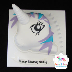 "Unicorn ""My Little Pony"" Birthday Cake"