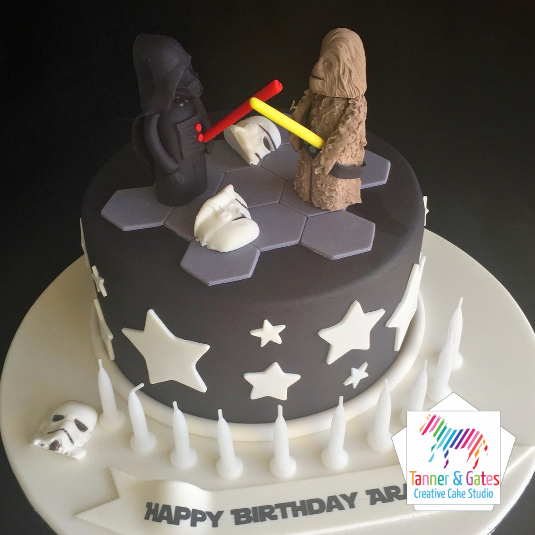 Star Wars Cake - Darth Vader vs Chewbacca