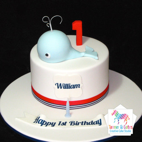 Whale 1st Birthday Cake