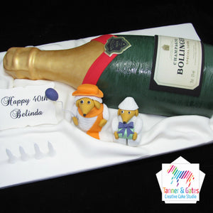 Champagne Cake with 3D Characters