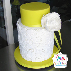 Scribble Engagement Cake