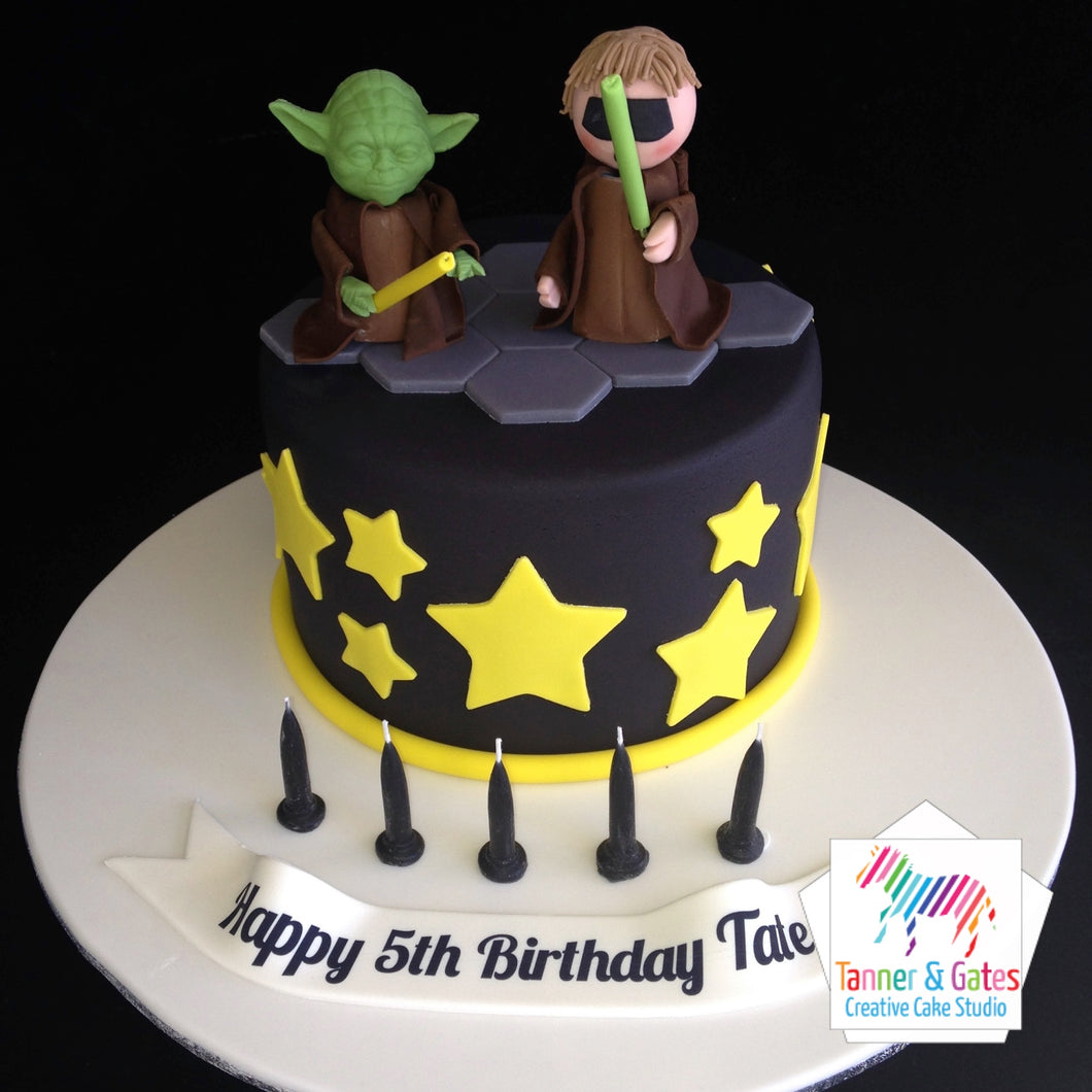 Star Wars Cake - Luke & Yoda
