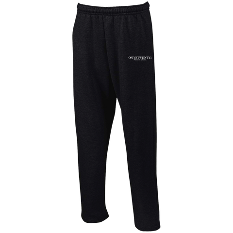 OFiveTwenty1 Open Bottom Sweatpants with Pockets