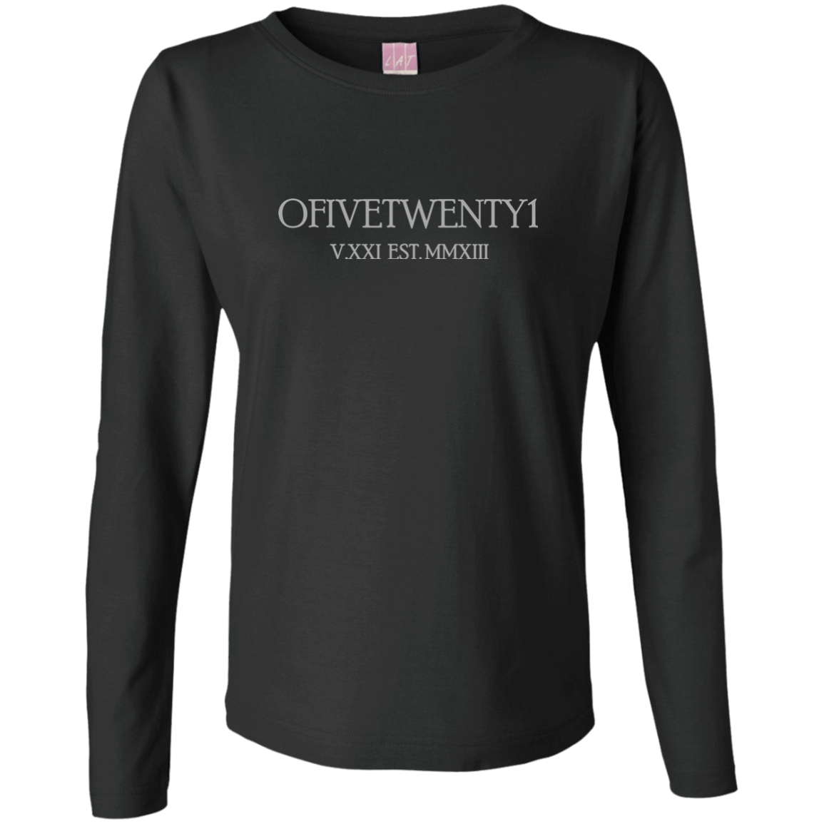OFiveTwenty1 Ladies' LS Cotton T-Shirt
