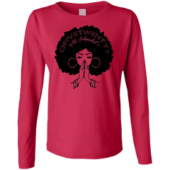 Ms. Independent Ladies' LS Cotton T-Shirt