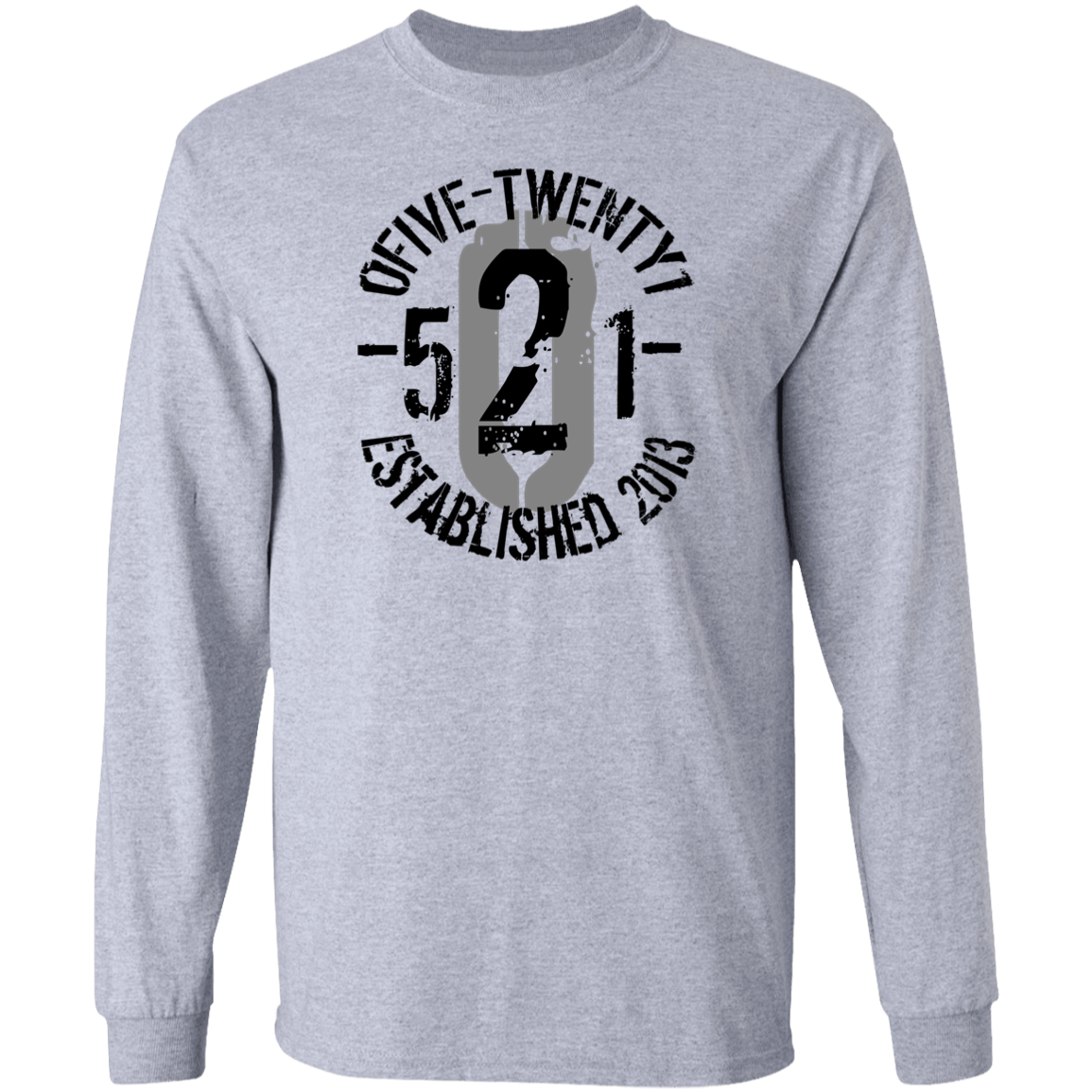 "OFiveTwenty1 - ""Represent"" Grey Long Sleeve T-Shirt"