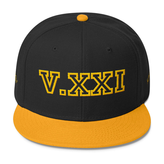 V.XXI (0521) Wool Blend Snapback w/Yellow Embroidery