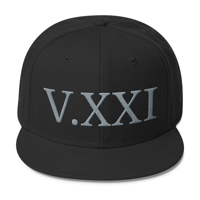 V.XXI (-0521-) Wool Blend Snapback w/Grey Embroidery