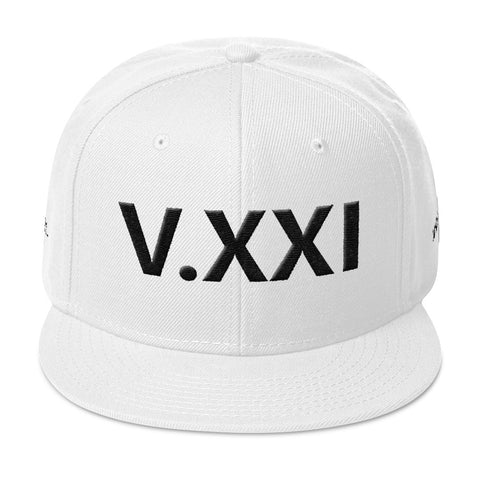 V.XXI Gen 2 (PUFF EMBROIDERED) Snapback Hat, Black Lettering