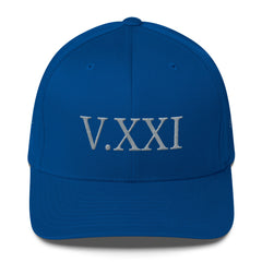 V.XXI (-0521-) Fitted Twill Cap w/ Grey Embroidery