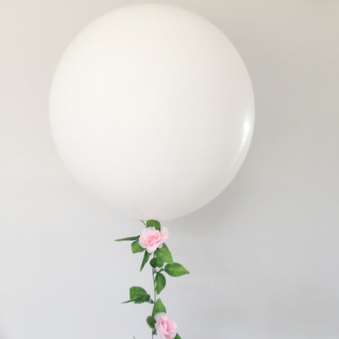 Pink Floral Balloon Tail