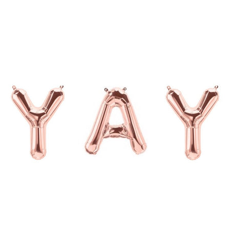 Rose Gold Foil Balloons - YAY