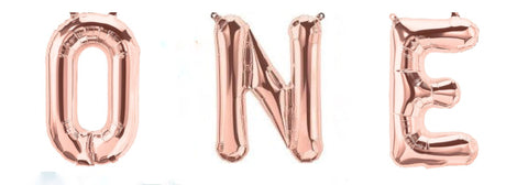 Rose Gold Foil Balloons - ONE