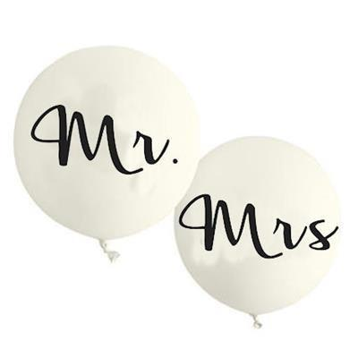 Giant Mr & Mrs Balloon Set