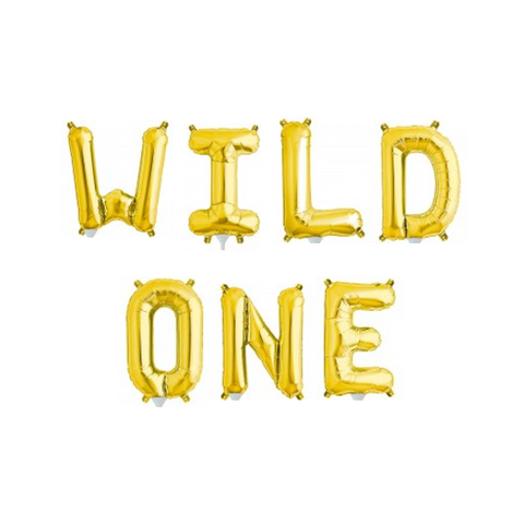 Wild One Balloons Gold