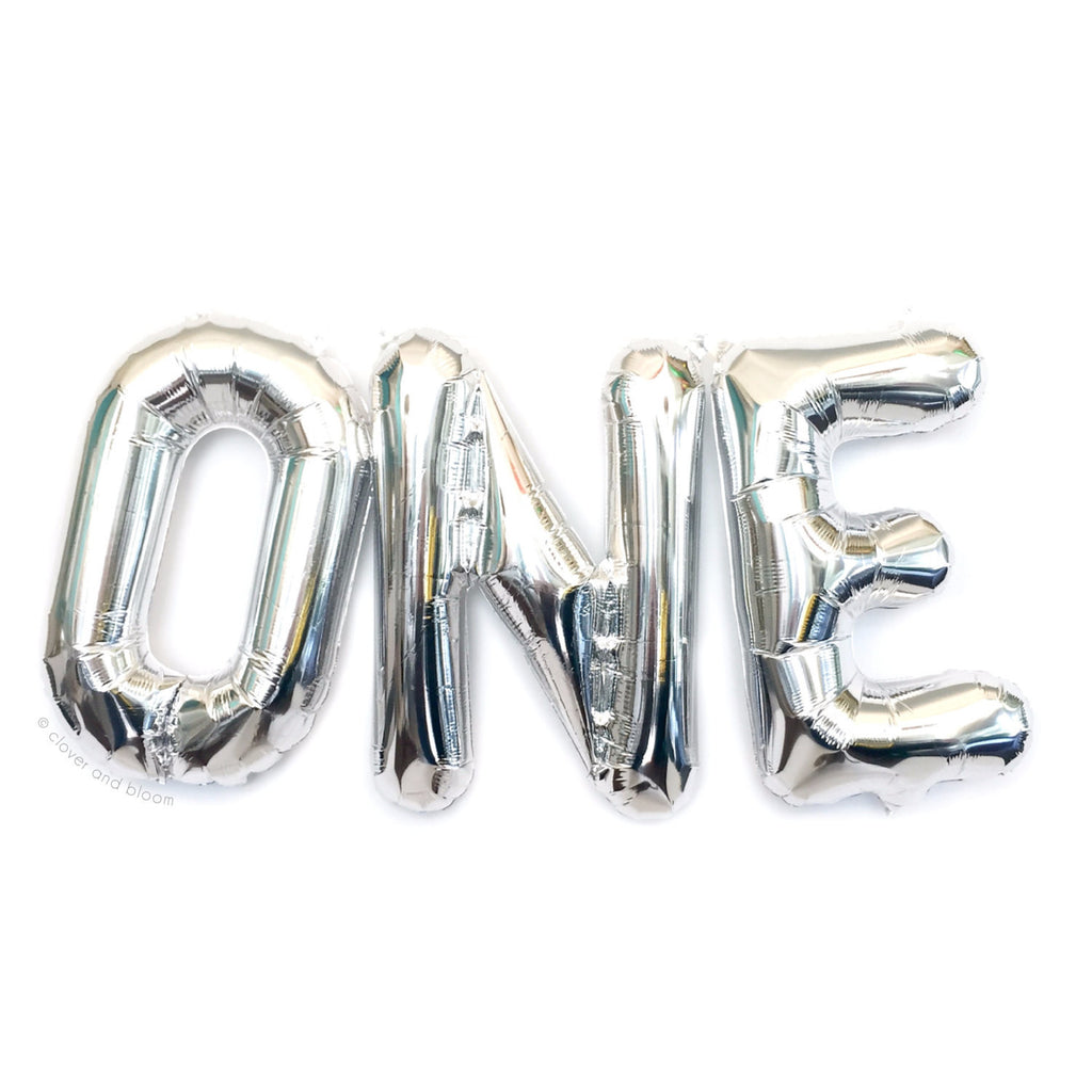 Silver Foil Balloons - ONE