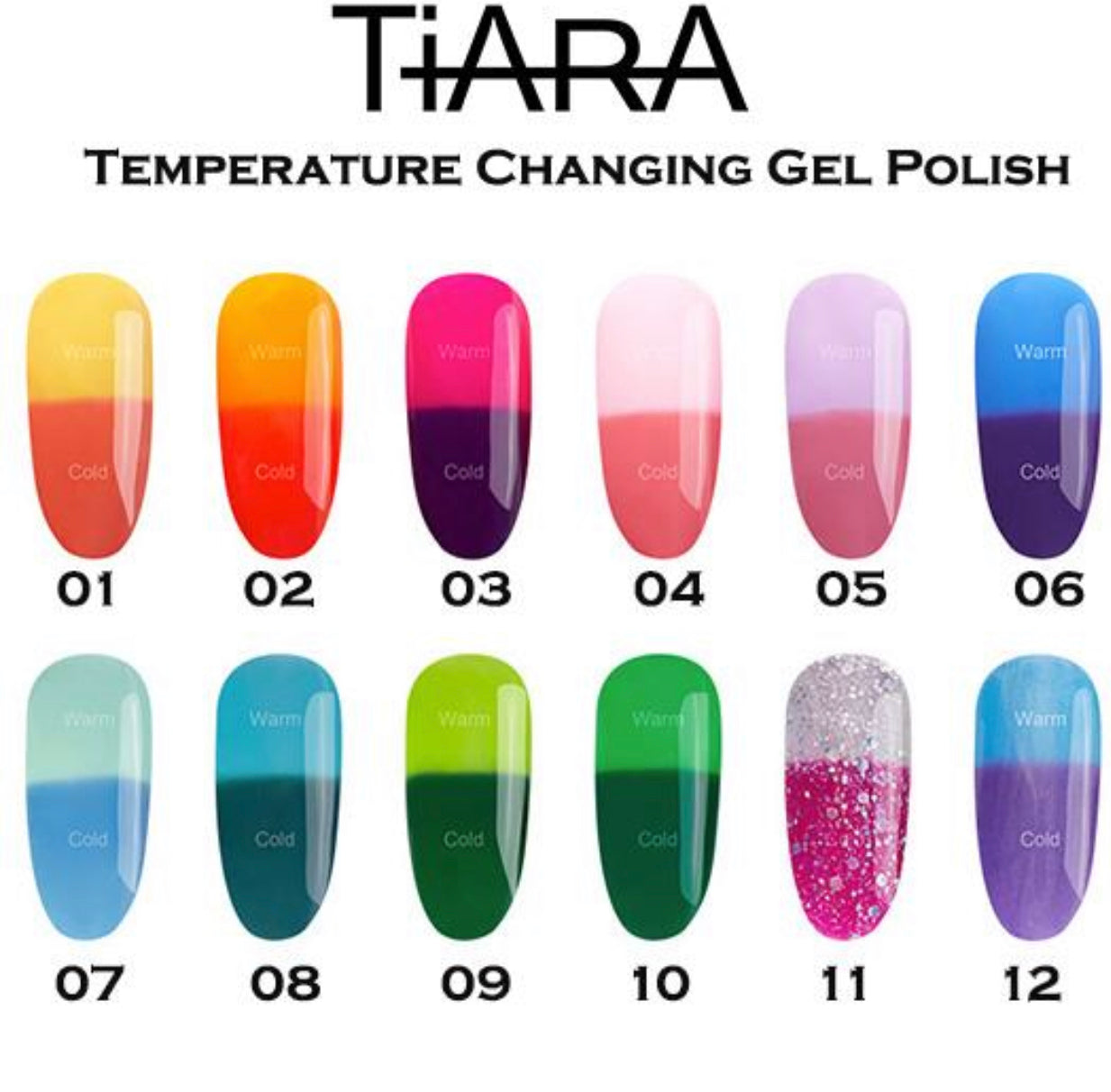 TiARA TEMPERATURE CHANGING GEL POLISH
