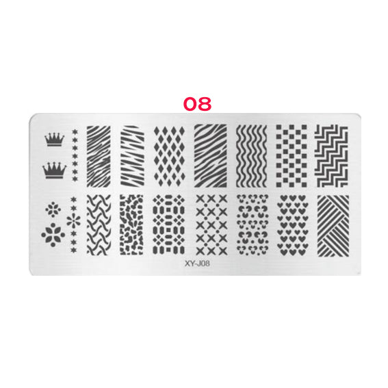 Silicone Stamper + 5 Stamping Plates for Nail Art