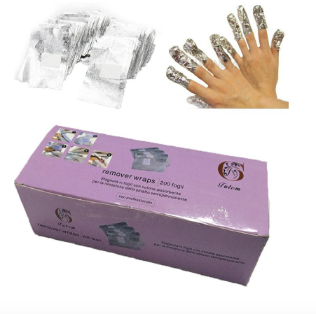 Aluminum Foil wraps make removing your TiARA gel polish a breeze. Pre cut foil pieces with cotton attached