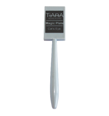 The TiARA Cat's Eye Magic Plate is the magic tool that creates amazing effects to the TiARA Chameleon and TiARA Cat's Eye Gel Polishes.