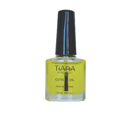Apply TiARA Cuticle Oil before or after finishing your manicure. This will instantly hydrate and condition your nails. Available in 7.3ml