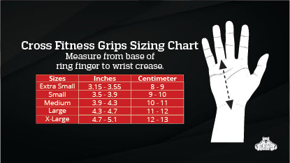 CrossFit Grip Size chart