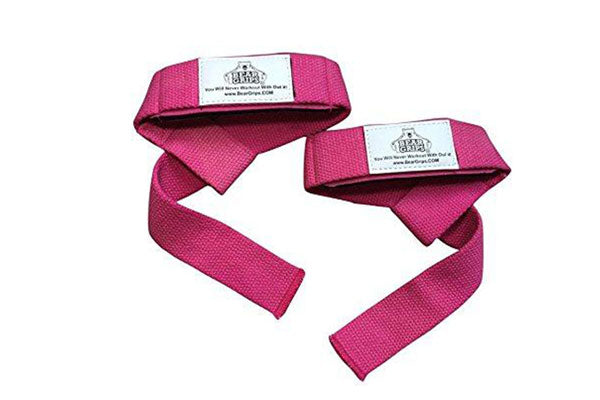 Pink Padded Lifting Straps