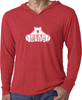 Men's Long-Sleeve Hoodie - Large White Logo-Men's Apparel-BearGrips