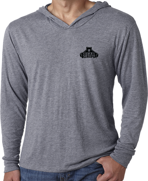 Men's Long-Sleeve Hoodie - Small Black Logo-Men's Apparel-BearGrips