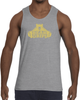Men's Tank Top - Large Gold Logo-Men's Apparel-BearGrips
