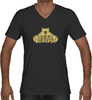 Men's V-Neck - Large Gold Logo-Men's Apparel-BearGrips