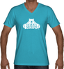 Men's V-Neck - Large White Logo-Men's Apparel-BearGrips