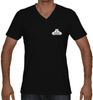 Men's V-Neck - Small White Logo-Men's Apparel-BearGrips