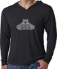 Tri-Blend Long Sleeve Fitted Hoody - Vintage Royal | Large White Logo-Men's Apparel-BearGrips