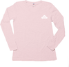 Women's Long Sleeve Crew T-shirt - Small White Logo-Women's Apparel-BearGrips