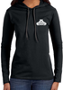 Women's Long Sleeved Hooded Shirt - Small White Logo-Women's Apparel-BearGrips